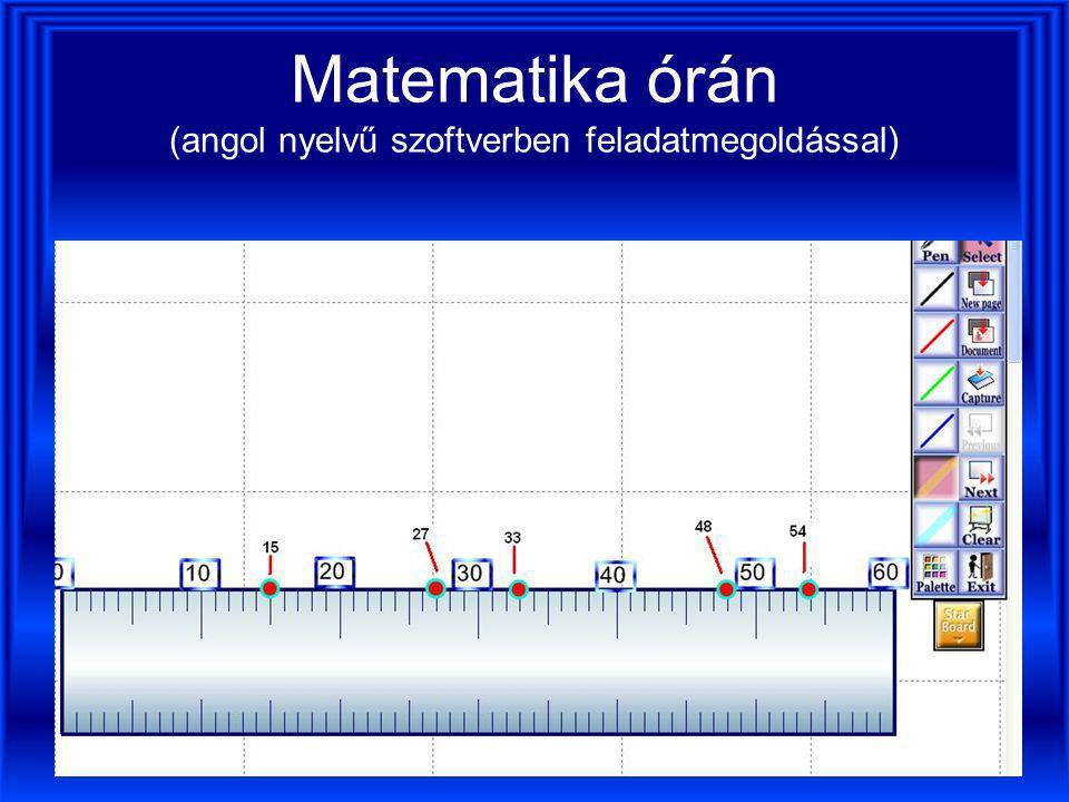 Matematika órán (angol nyelvű szoftverben feladatmegoldással)