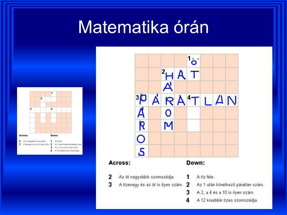 Matematika órán