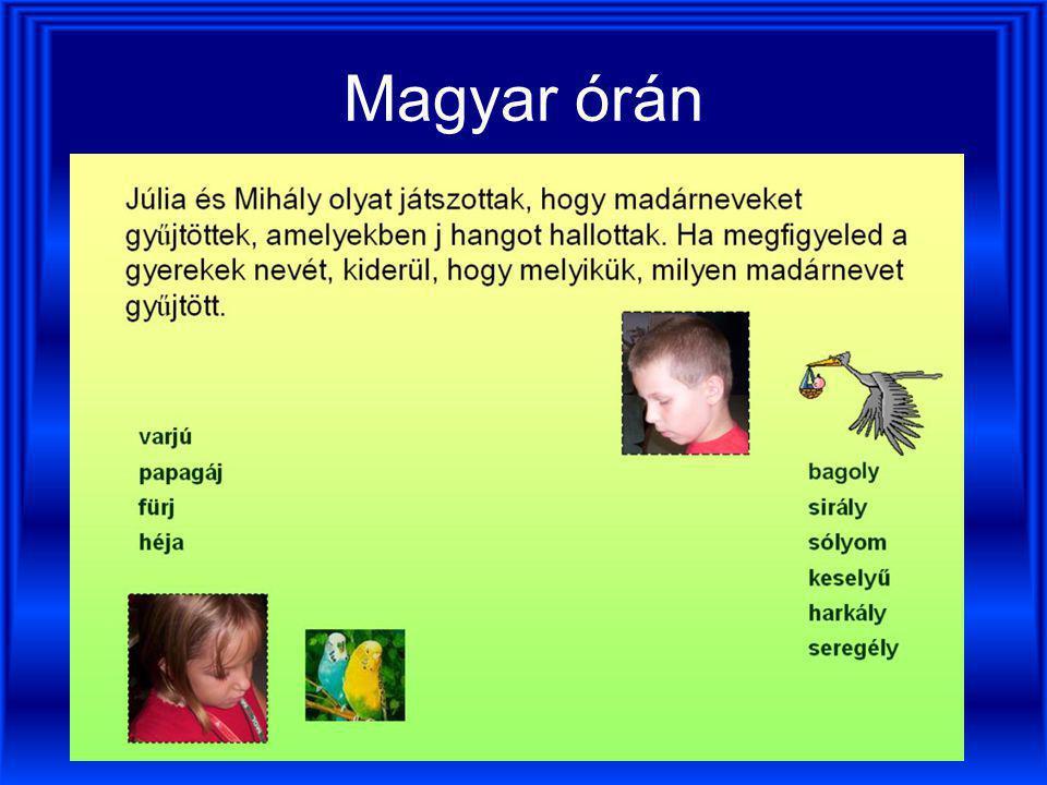 Magyar órán