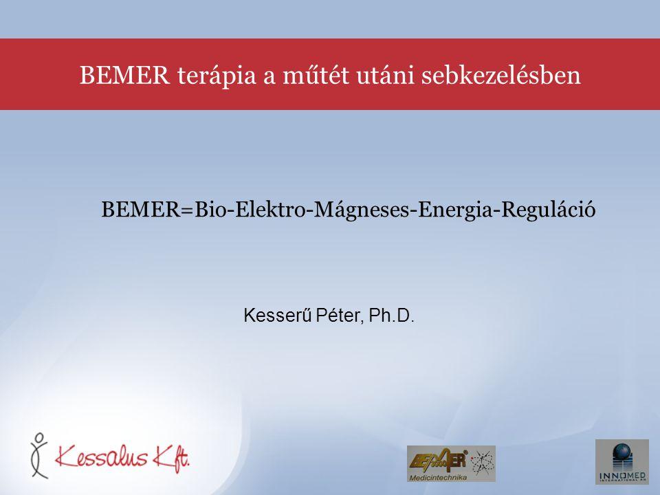BEMER=Bio-Elektro-Mágneses-Energia-Reguláció Kesserű Péter, Ph.D. BEMER terápia a műtét utáni sebkezelésben