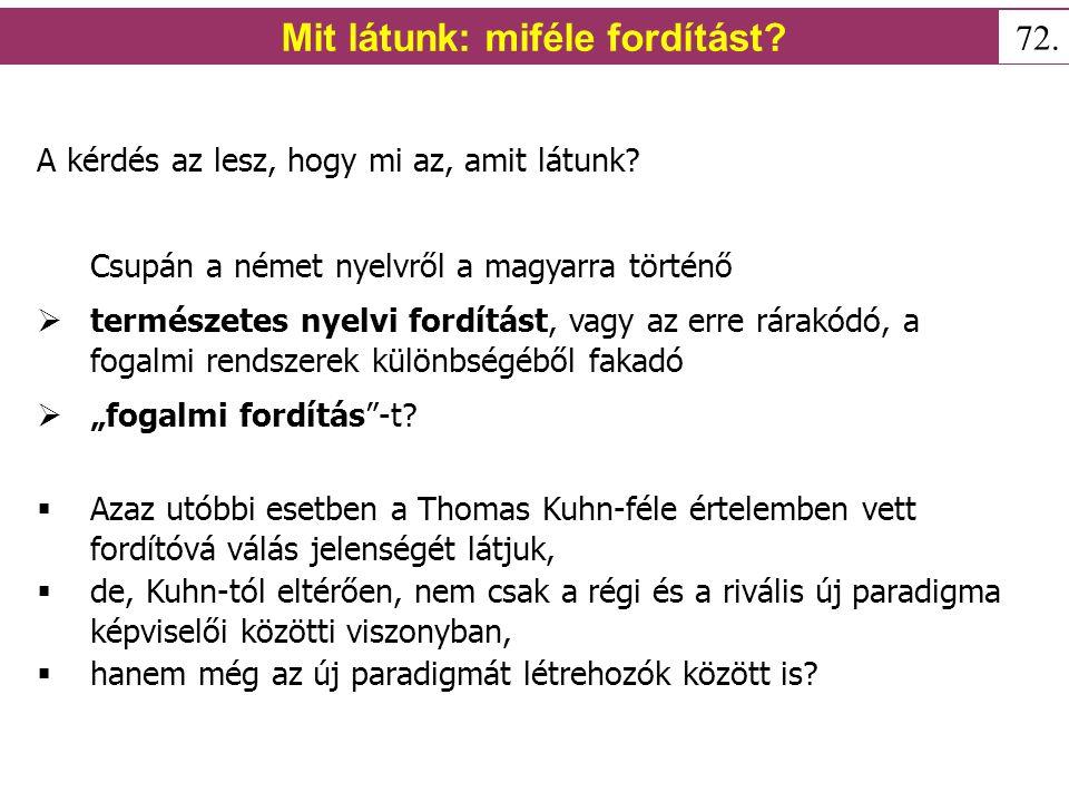 Mit állít Thomas Kuhn.