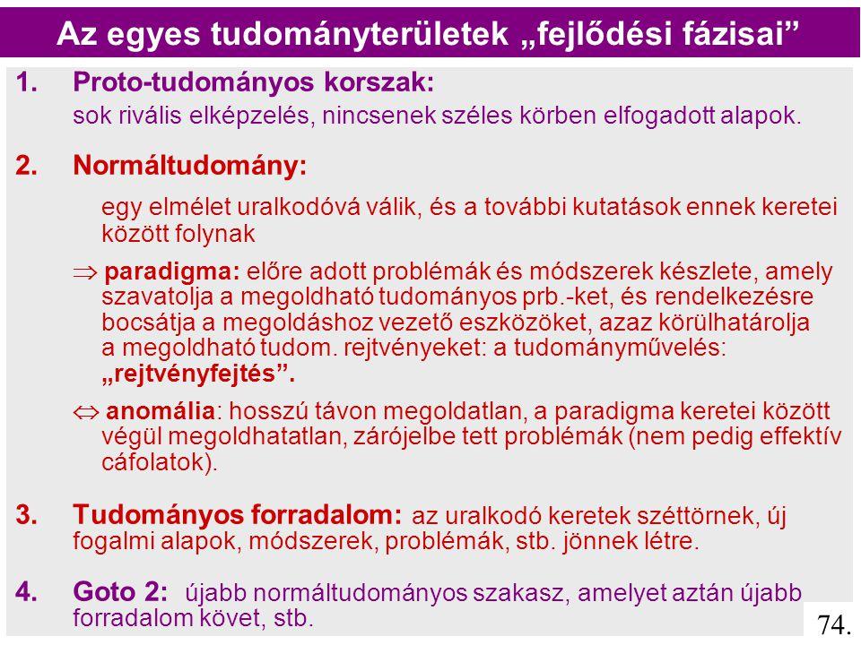"""Paradigma:  Eredeti jelentése a nyelvészetben: """"ragozási minta  követendő mintázat  a) olyan elmélet, amelyet a tudósközösség mintaként követ Pl."""