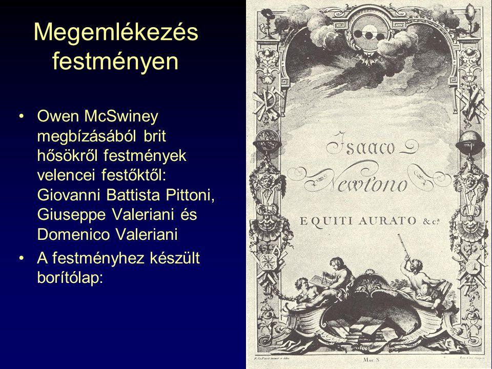 Megemlékezés festményen Owen McSwiney megbízásából brit hősökről festmények velencei festőktől: Giovanni Battista Pittoni, Giuseppe Valeriani és Domen