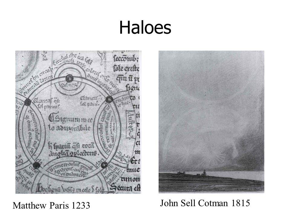 Haloes Matthew Paris 1233 John Sell Cotman 1815