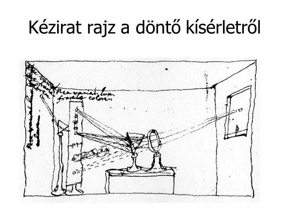 Kézirat rajz a döntő kísérletről
