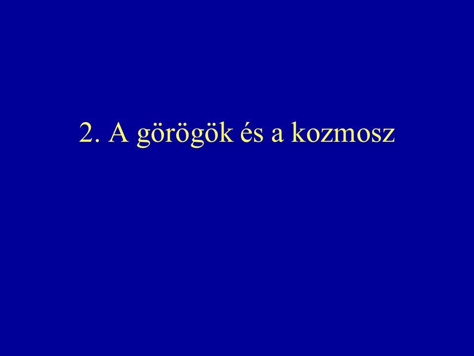 2. A görögök és a kozmosz