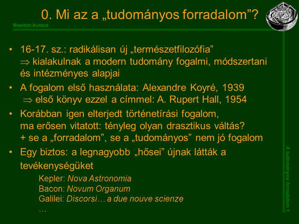 "0.Mi az a ""tudományos forradalom . 16-17."