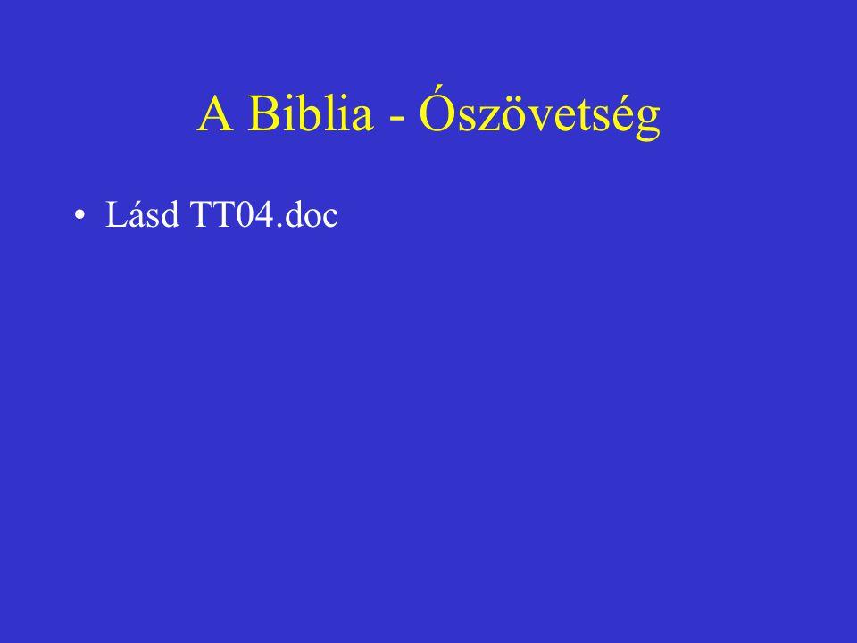 A Biblia - Ószövetség Lásd TT04.doc