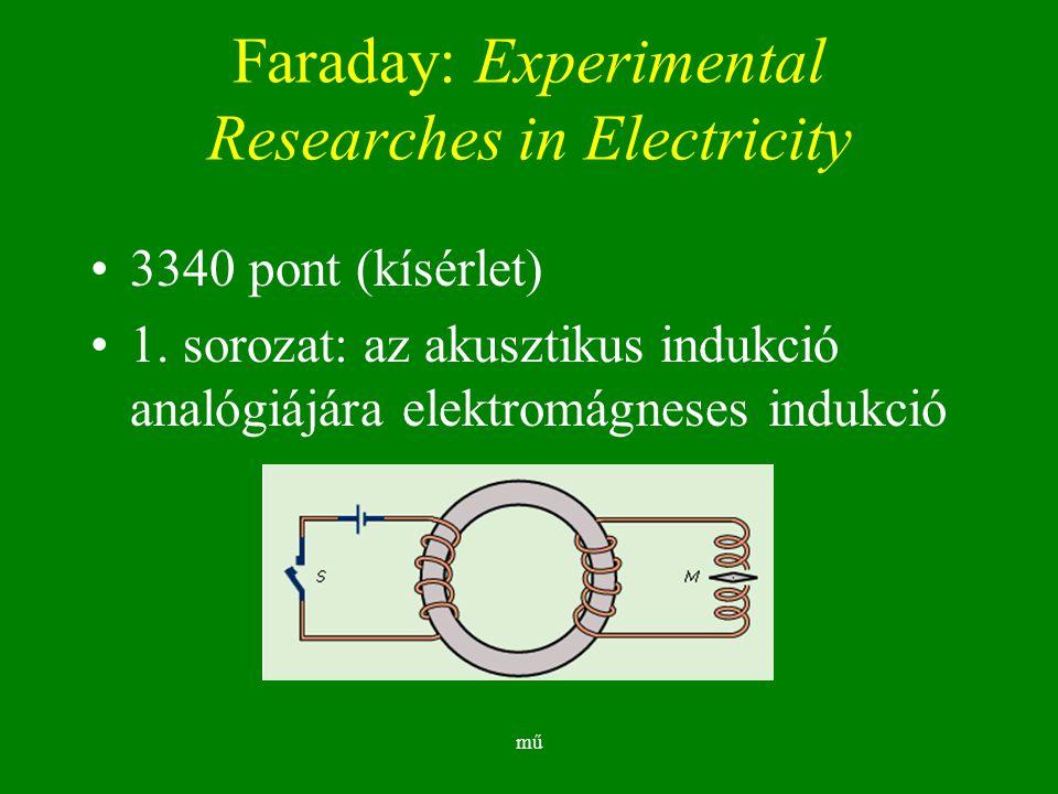 mű Faraday: Experimental Researches in Electricity 3340 pont (kísérlet) 1.