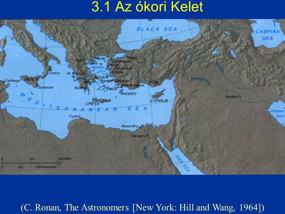 3.1 Az ókori Kelet (C. Ronan, The Astronomers [New York: Hill and Wang, 1964])