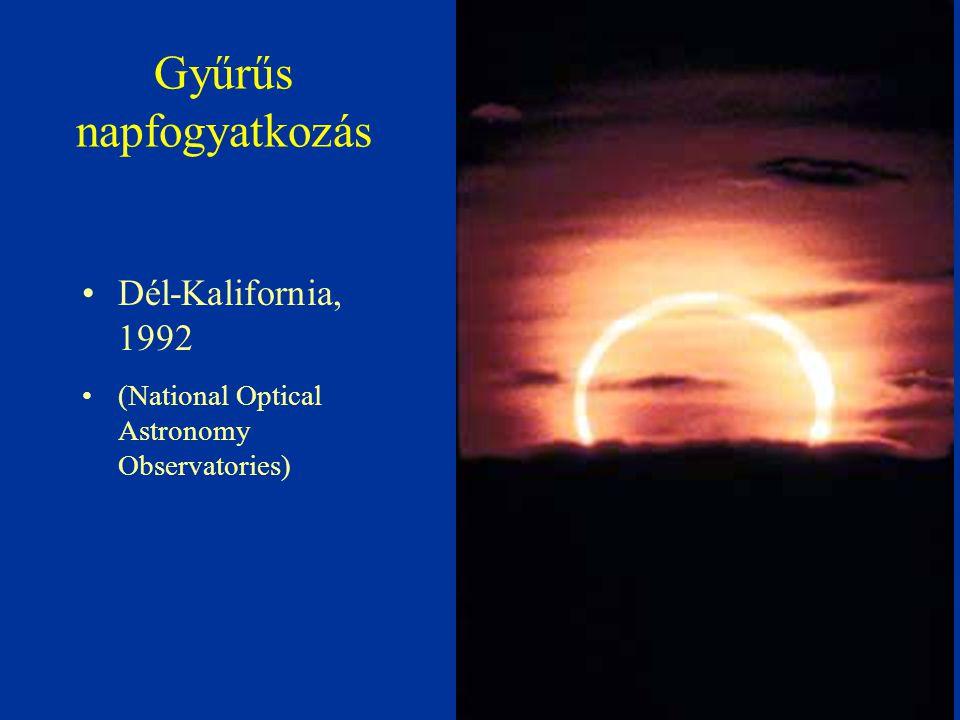 Gyűrűs napfogyatkozás Dél-Kalifornia, 1992 (National Optical Astronomy Observatories)