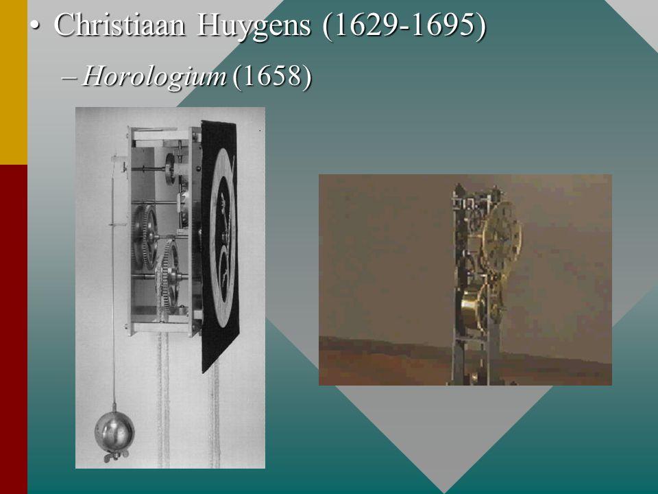 Christiaan Huygens (1629-1695)Christiaan Huygens (1629-1695) –Horologium (1658)