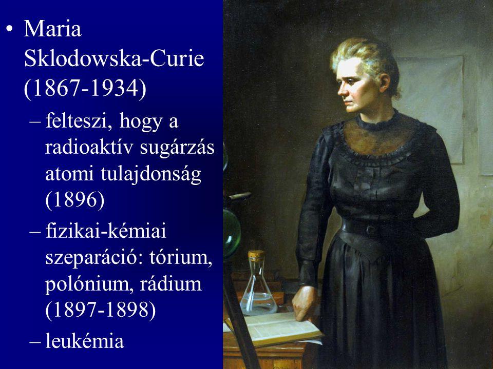 Rutherford –töltött részecskék észlelése (Geiger-cső, 1909) –az α részecskék kétszeresen ionizált He atomok –A 10 -12 cm átmérőjű atommagok felfedezése α bombázással (1906-1911)