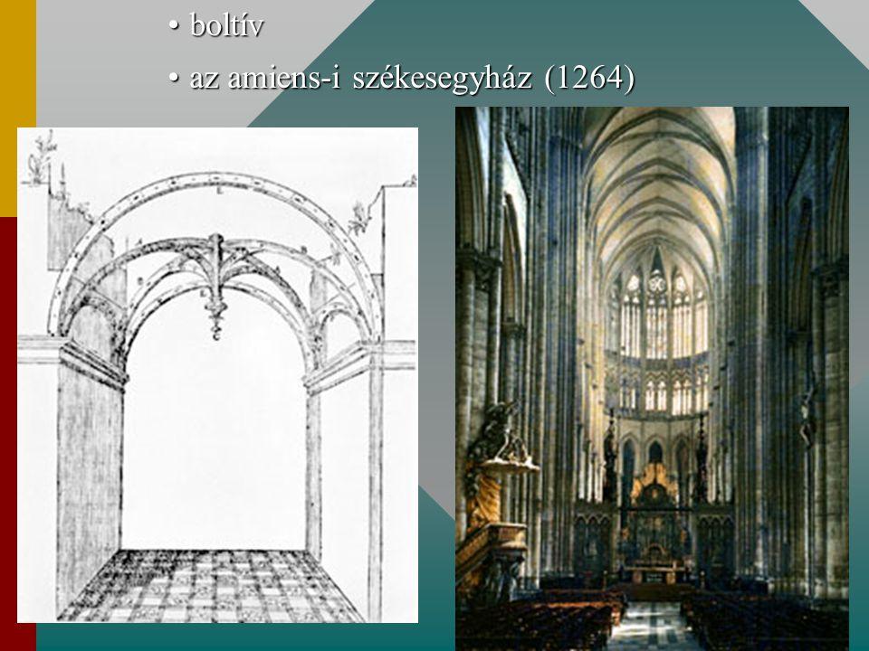 boltívboltív az amiens-i székesegyház (1264)az amiens-i székesegyház (1264)