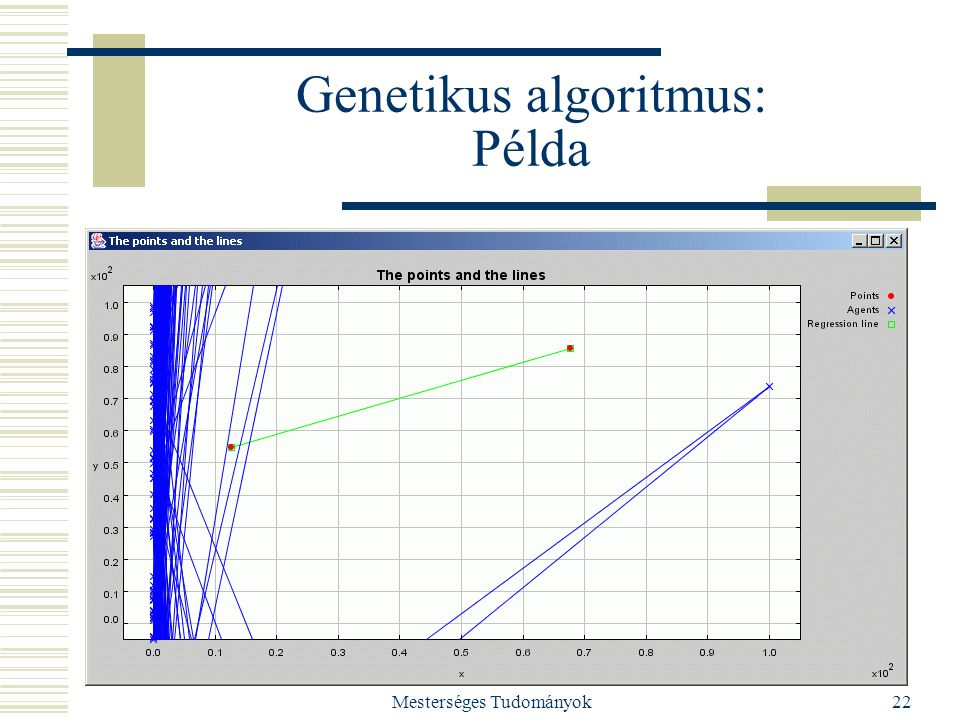 Mesterséges Tudományok22 Genetikus algoritmus: Példa