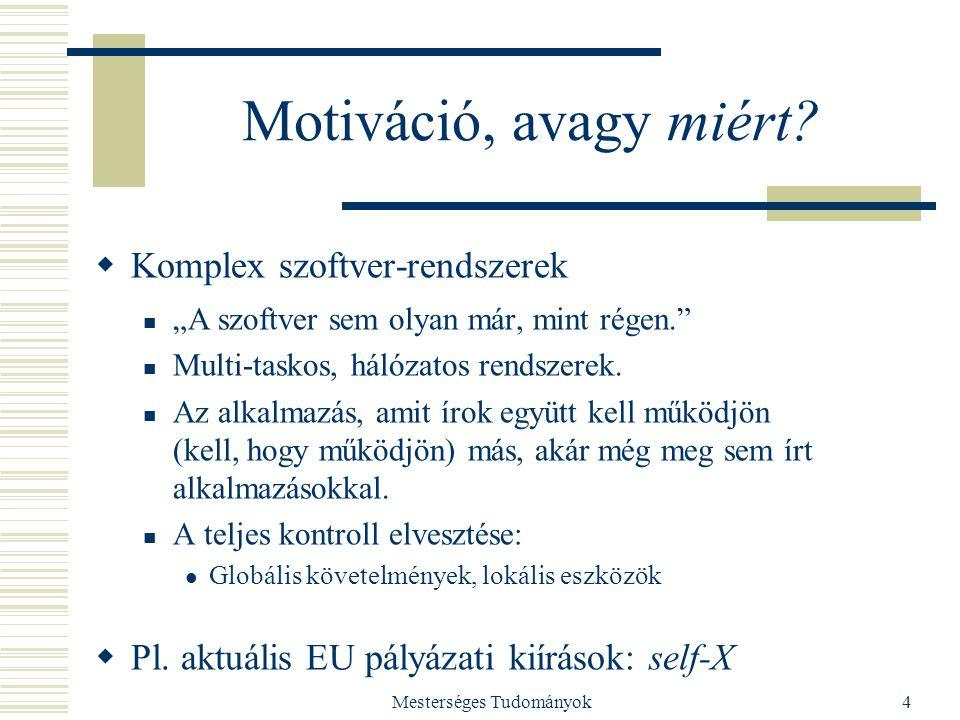 Mesterséges Tudományok4 Motiváció, avagy miért.