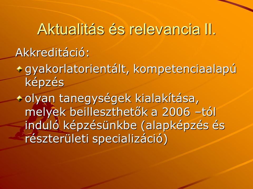 Aktualitás és relevancia II.