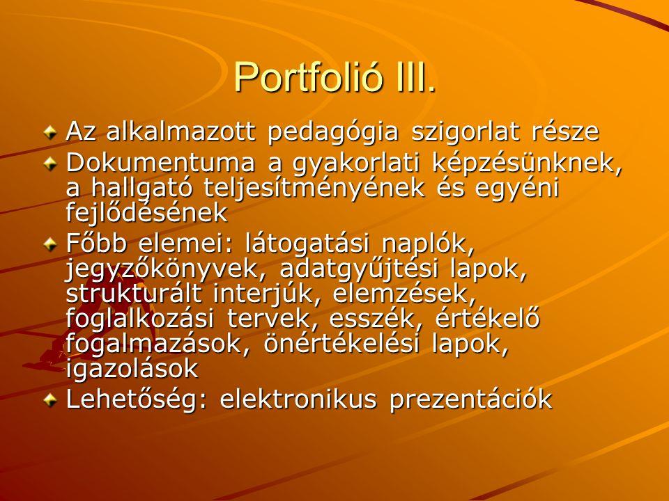 Portfolió III.