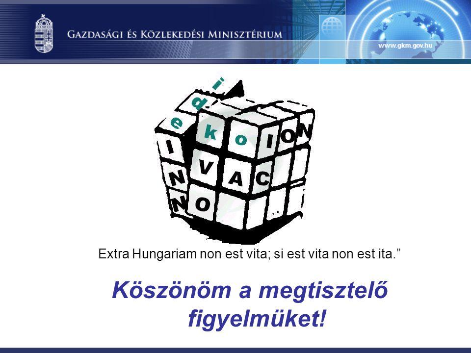 Extra Hungariam non est vita; si est vita non est ita. Köszönöm a megtisztelő figyelmüket!