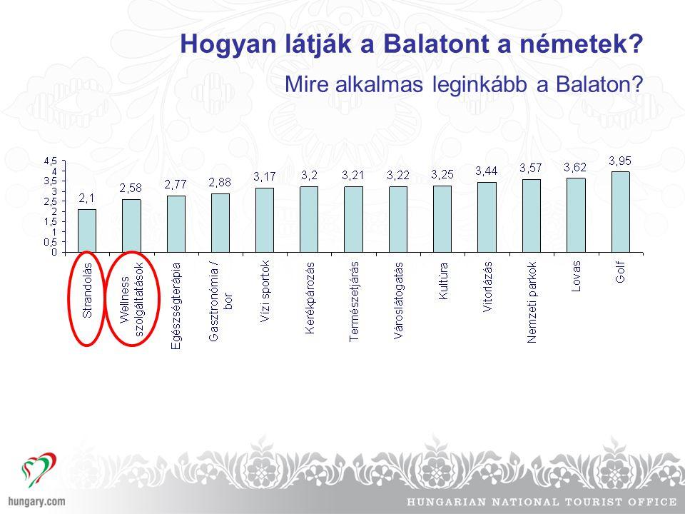 Hogyan látják a Balatont a németek? Mire alkalmas leginkább a Balaton?