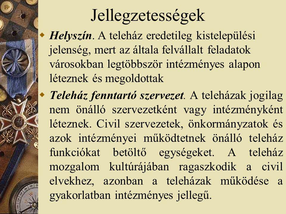 A történet:1995- 2005  1995 – 3 teleház, létrejön a Magyar Teleház Szövetség  1997 – az első külföldi program, USAID, kb 40 teleház  1999 – az első magyar állami támogatás, 80 teleház  2001 – Informatikai kormánybiztosság, 165 új teleház, összesen mintegy 300 működött akkor  2005 – több, mint 500 teleház.