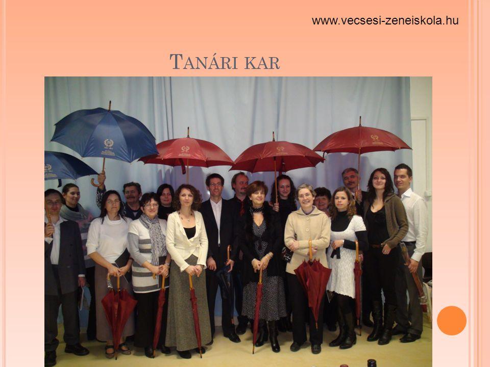 T ANÁRI KAR www.vecsesi-zeneiskola.hu