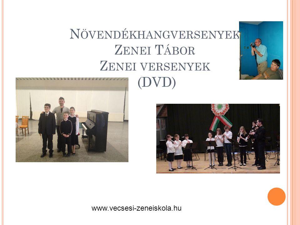 N ÖVENDÉKHANGVERSENYEK Z ENEI T ÁBOR Z ENEI VERSENYEK (DVD) www.vecsesi-zeneiskola.hu