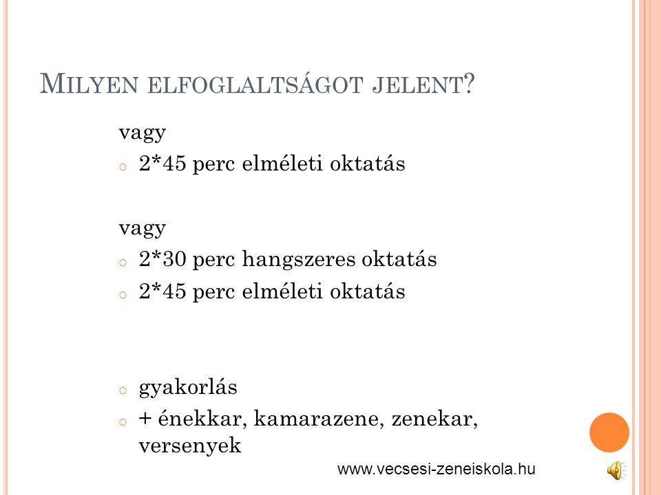 M ILYEN ELFOGLALTSÁGOT JELENT .
