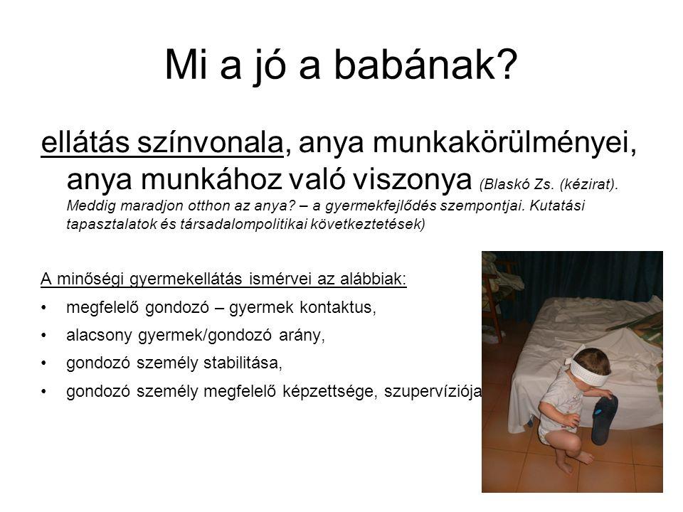 Mi a jó a babának.Anyai attitűdök : Cseres-Gergely Zs.