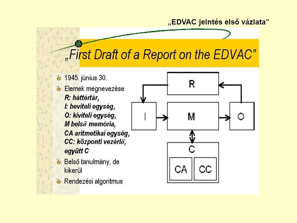 """""""EDVAC jelntés első vázlata"""""""