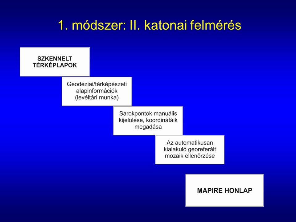1. módszer: II. katonai felmérés