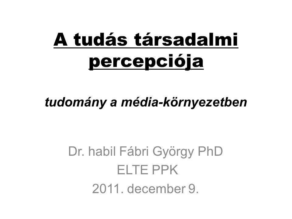 Tudományos témák a televíziós magazin-műsorokban