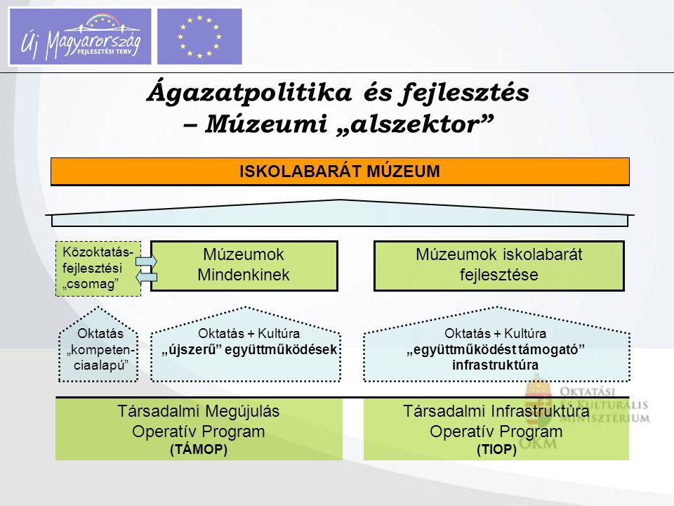 """Ágazatpolitika és fejlesztés – Múzeumi """"alszektor"""" Társadalmi Megújulás Operatív Program (TÁMOP) Társadalmi Infrastruktúra Operatív Program (TIOP) Okt"""