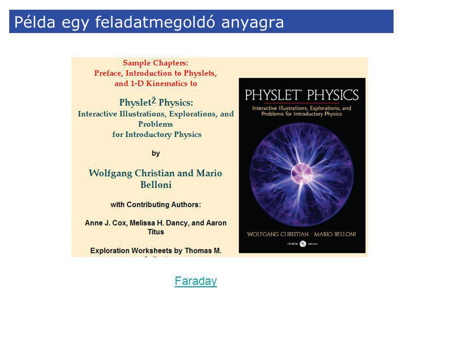 Példa egy feladatmegoldó anyagra Faraday