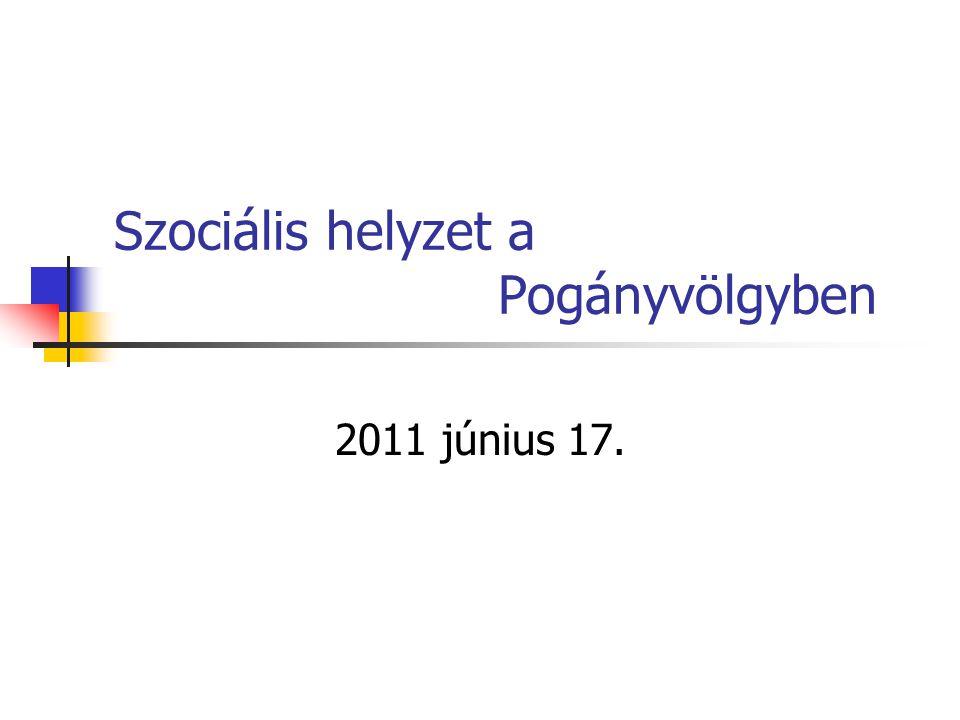 Szociális helyzet a Pogányvölgyben 2011 június 17.