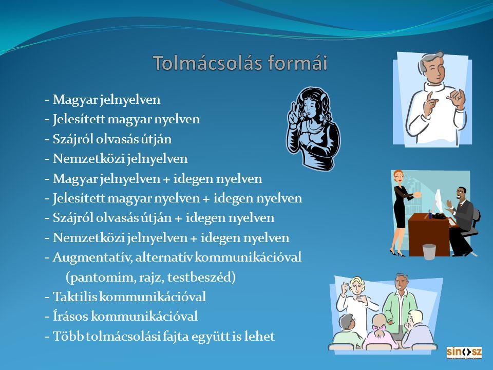 NAGY ZSOLT jelnyelvi tolmács Tolmácsolási területei: - 1.