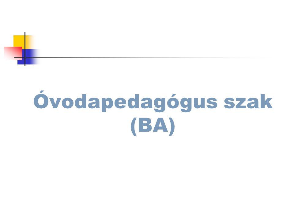 Óvodapedagógus szak (BA)