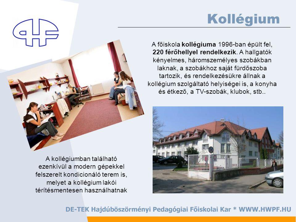 Kollégium A főiskola kollégiuma 1996-ban épült fel, 220 férőhellyel rendelkezik.