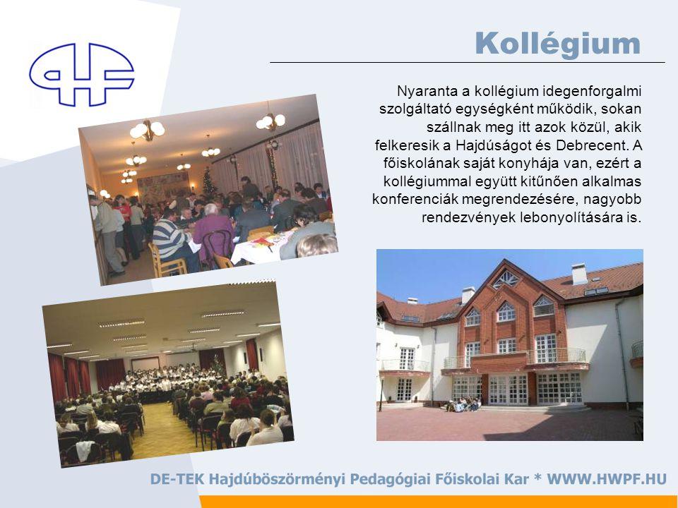 Nyaranta a kollégium idegenforgalmi szolgáltató egységként működik, sokan szállnak meg itt azok közül, akik felkeresik a Hajdúságot és Debrecent.