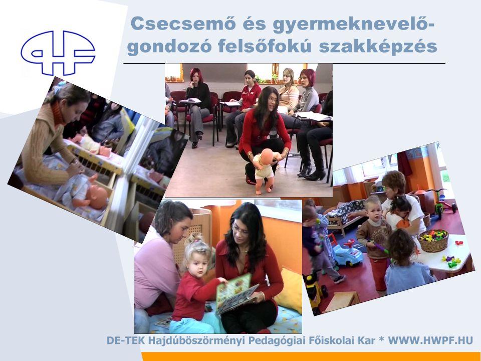 Csecsemő és gyermeknevelő- gondozó felsőfokú szakképzés