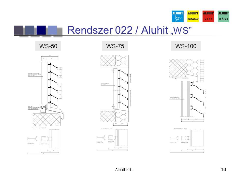 """Aluhit Kft. 10 Rendszer 022 / Aluhit """"WS"""" WS-50WS-75WS-100"""