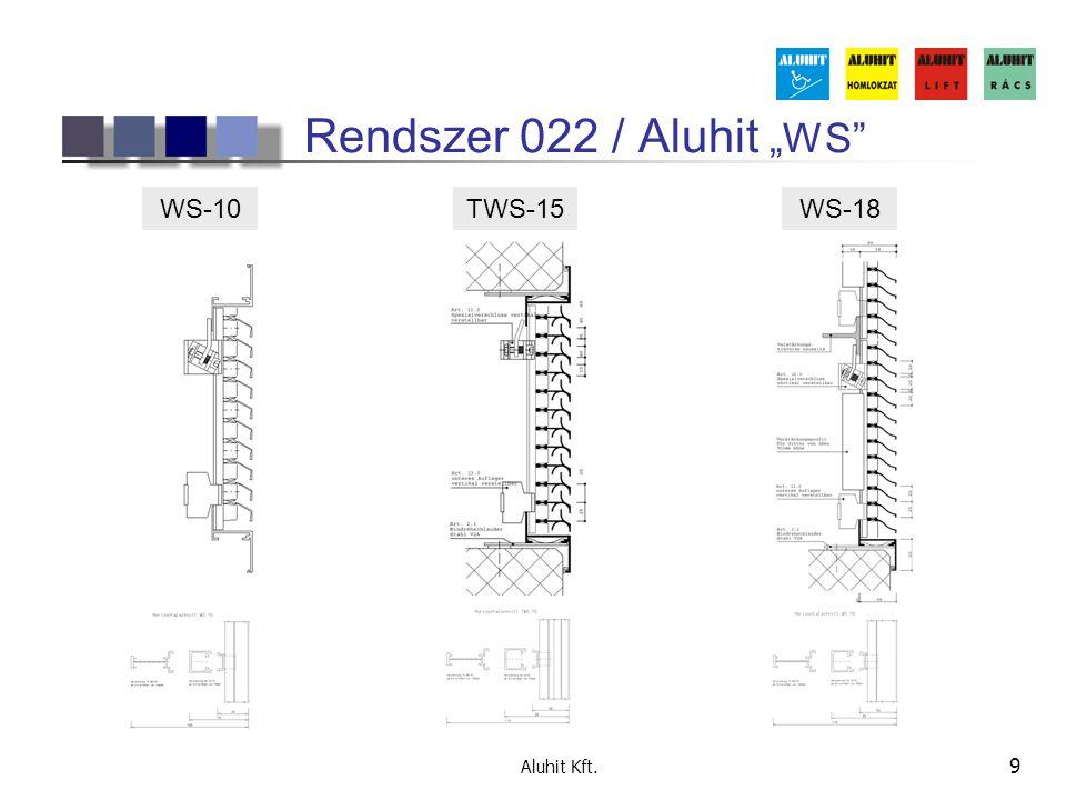 """Aluhit Kft. 9 Rendszer 022 / Aluhit """"WS"""" WS-10TWS-15WS-18"""