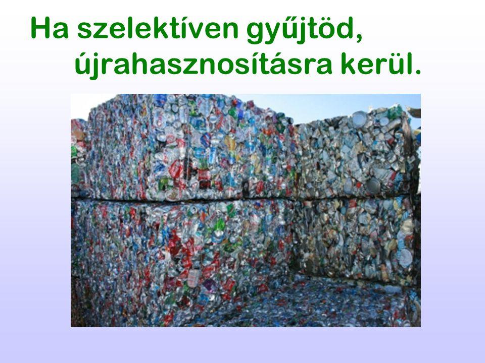 Ha szelektíven gy ű jtöd, újrahasznosításra kerül.