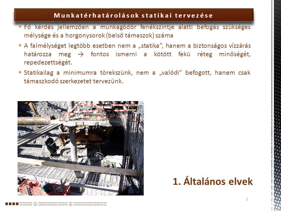 Munkatérhatárolások statikai tervezése 1.