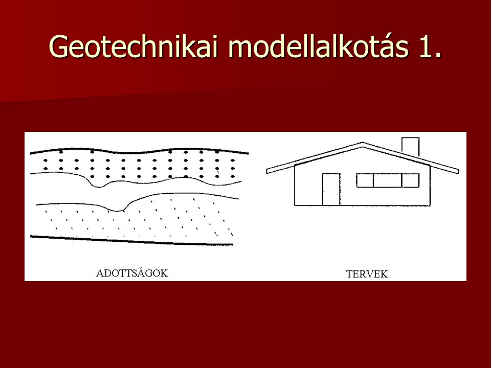 Geotechnikai modellalkotás 2.