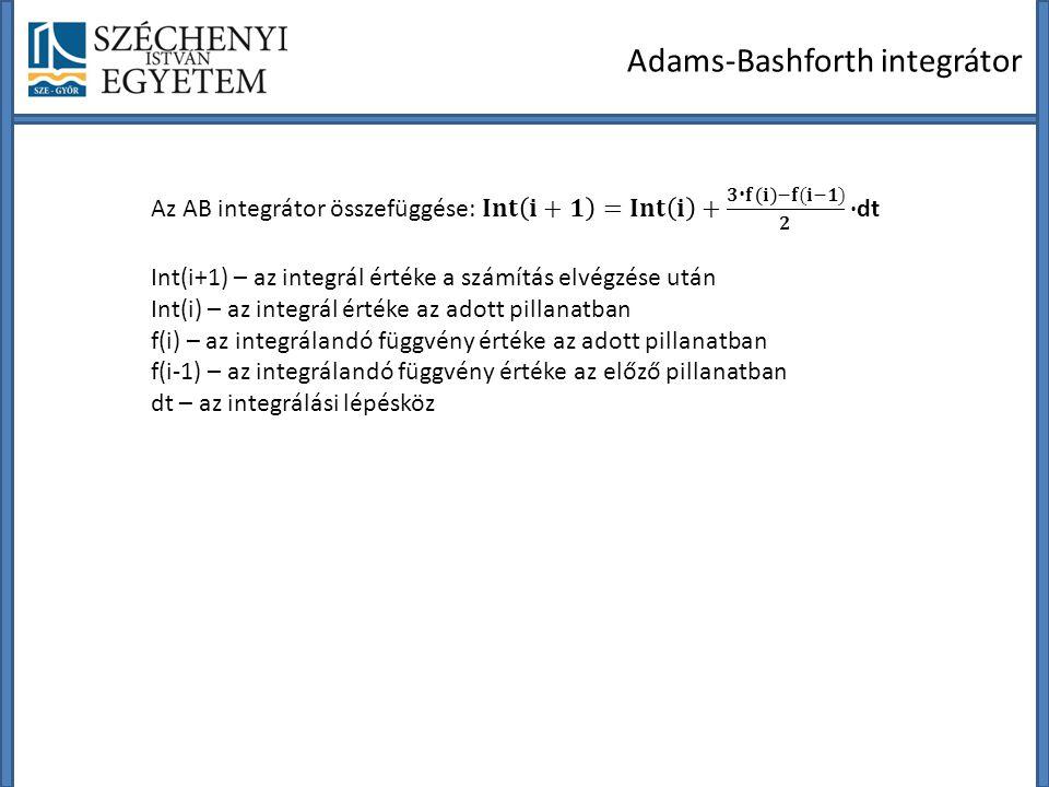 Adams-Bashforth integrátor