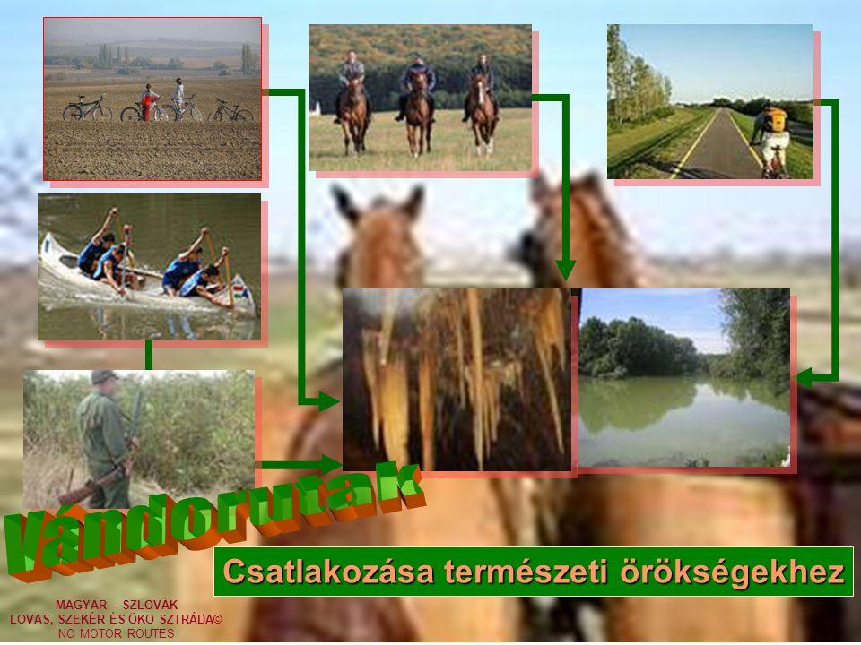 MAGYAR – SZLOVÁK LOVAS, SZEKÉR ÉS ÖKO SZTRÁDA© NO MOTOR ROUTES Csatlakozása természeti örökségekhez