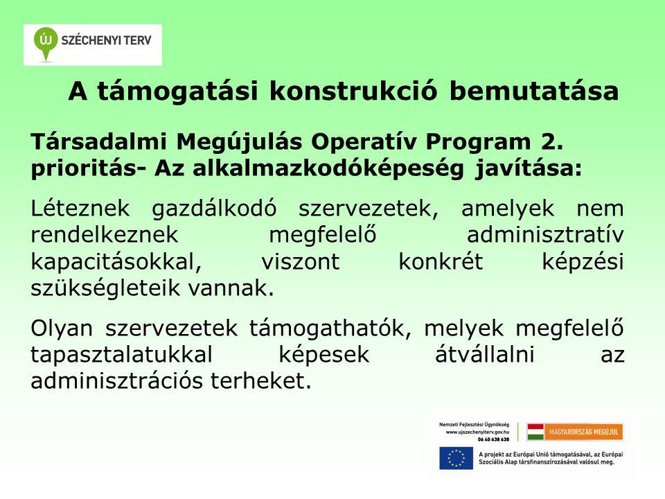 A támogatási konstrukció bemutatása Társadalmi Megújulás Operatív Program 2.