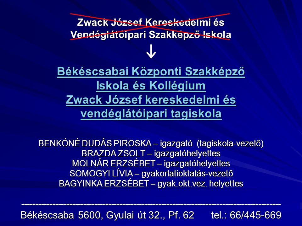 """kollégium Békéscsabai Központi Szakképző Iskola és Kollégium """"József Attila kollégium VARGA JÓZSEF - kollégiumvezető"""