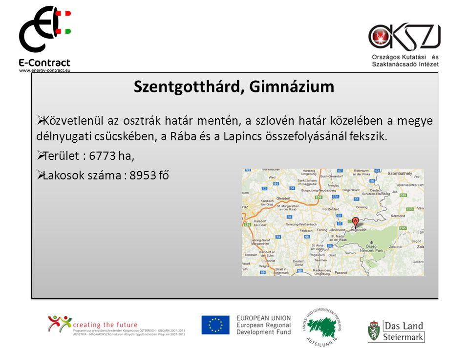 Szentgotthárd, Gimnázium  Közvetlenül az osztrák határ mentén, a szlovén határ közelében a megye délnyugati csücskében, a Rába és a Lapincs összefolyásánál fekszik.